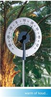 Grote ronde tuinthermometer