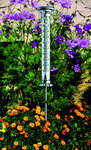 Garden thermometer with solar lighting