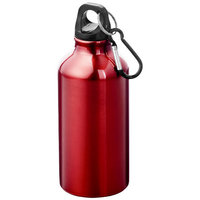Oregon drinking bottle with carabiner, Red