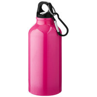 Oregon drinking bottle with carabiner, Neon Pink