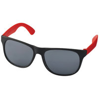 Retro Sunglasses,  solid black,Red