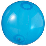 Ibiza transparent beach ball, Transparent blue