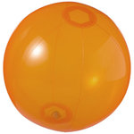 Ibiza transparent beach ball, Transparent orange