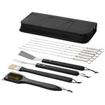 Asado 11 piece BBQ set,  solid black