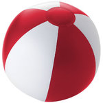 Palma solid beach ball, Red,White