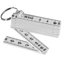 Harve 0.5M foldable ruler key chain, White