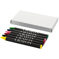 6 piece crayon set, Grey