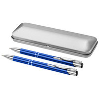 Dublin pen set, Royal blue,Silver
