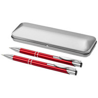 Dublin pen set, Red,Silver