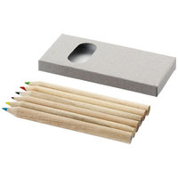 6 piece pencil set, Brown