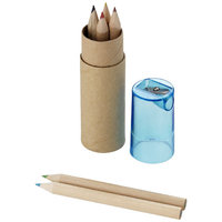 7 piece pencil set, Brown