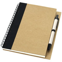 Priestly A6 notitieboek met pen, Naturel,Zwart