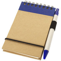 Zuse notitieboek met pen, Naturel,Navy