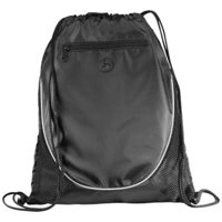 The Peek Drawstring Cinch Backpack,  solid black