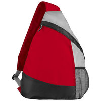 Armada polyester sling rugzak, Rood