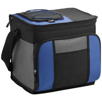 24-Can Easy-Access Cooler, Royal blue, solid black