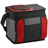 24-Can Easy-Access Cooler, Red, solid black