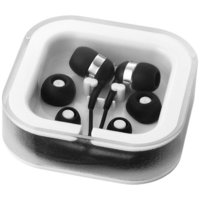 Sargas earbuds with microphone,  solid black