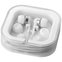 Sargas earbuds with microphone, White