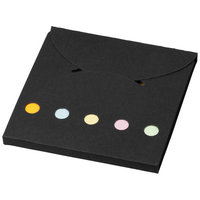 Deluxe accent sticky notes,  solid black