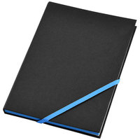 Travers notebook,  solid black,Blue