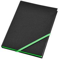 Travers notebook,  solid black,Green