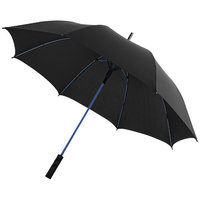 "23"" Spark auto open storm umbrella,  solid black,Blue"