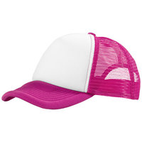 Trucker 5 panel cap, Pink,White
