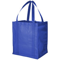 Liberty non woven grocery Tote, Royal blue