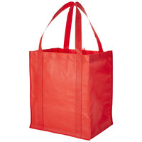 Liberty non woven grocery Tote, Red