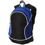 Boomerang backpack,  solid black,Royal blue