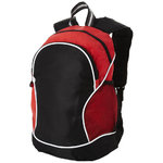 Boomerang backpack,  solid black,Red