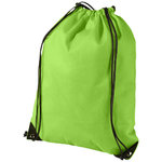Evergreen non woven premium rucksack, Apple Green