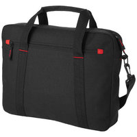 "Vancouver 15.4"" laptop bag,  solid black"