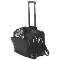 "Proton checkpoint friendly 17"" computer attaché,  solid black"