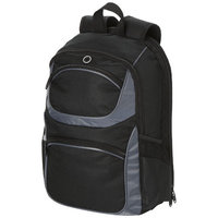 "Continental 15.4"" laptop backpack,  solid black"