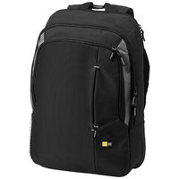 "17"" laptop backpack,  solid black"