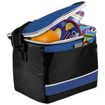 Levi Sport Cooler Bag,  solid black,Royal blue