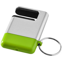 Gogo screen cleaner and smartphone holder, Silver,Lime green