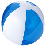 Bondi solid/transparent beach ball, Transparent blue,White