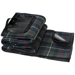 Park picnic blanket,  solid black,Green