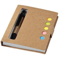 Reveal sticky notes book and pen, Natural