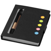 Reveal sticky notes book and pen,  solid black
