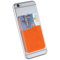 Slim Silicone Card Wallet, Orange