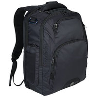 "Rutter 17"" Computer Backpack,  solid black"