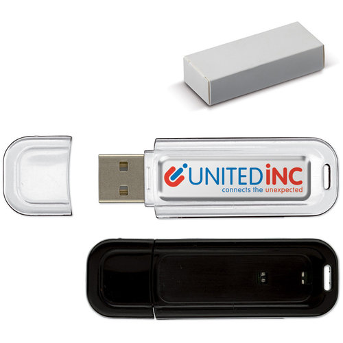 USB 8GB Flash drive Doming, Zwart