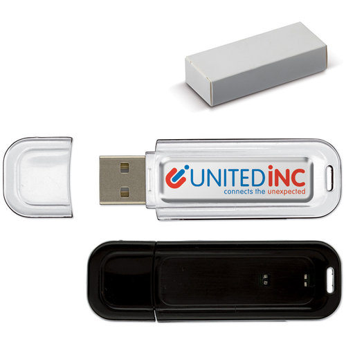 USB 4GB Flash drive Doming, Zwart