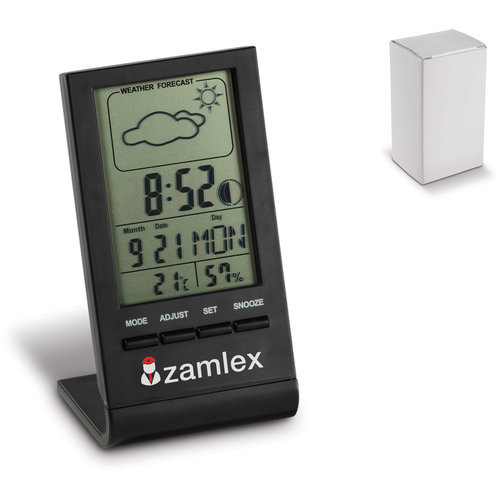 Electric Weather Station Black, Black
