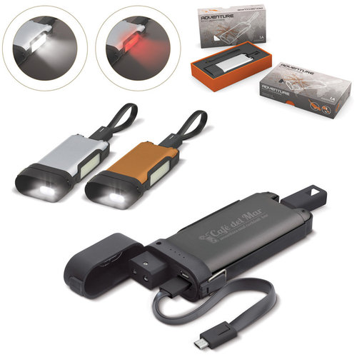 Adventure Powerbank Zaklamp 5000mAh, Dark gun metal