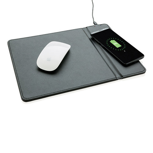 Mouse pad with 5W wireless charger, black